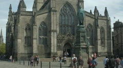 St Giles Cathedral, Edinburgh Stock Footage