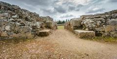 Entrance to the ruins of the Roman circus Stock Photos
