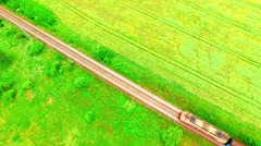 Train on local railroad. Stock Footage