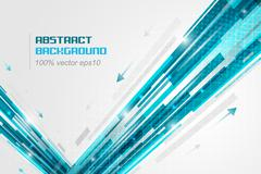 Abstract straight lines futuristic vector illustration with arrows and glitte - stock illustration