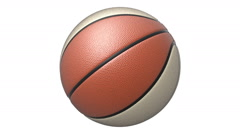Rotated red-white basketball, seamlessly loopable with alpha mask Stock Footage