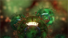 H5N1 virus with glassy structure. Stock Footage