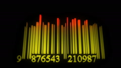 Animated barcode lines as music equalizer Stock Footage