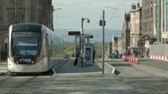 Edinburgh Tram, St Andrew square Stock Footage