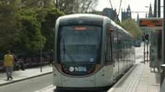 Edinburgh Tram, Princes street Stock Footage