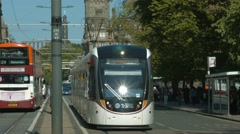 Edinburgh Tram, Princes street Stock Footage