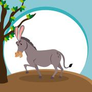 donkey icon design  , vector graphic , animal illustration - stock illustration