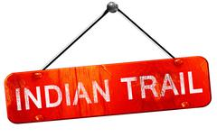 Indian trail, 3D rendering, a red hanging sign Stock Illustration