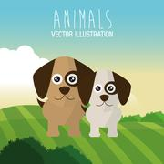 dog icon design  , vector graphic , animal illustration - stock illustration