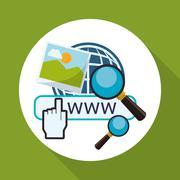 Cloud computing design. Media icon. Isolated illustration - stock illustration