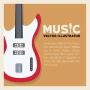 Musical Instrument Design, Vector illustration Stock Illustration