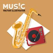 Musical Instrument Design, Vector illustration - stock illustration