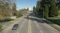 City road with cars and skytrain Stock Footage