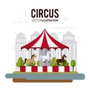 Carousel icon design - stock illustration