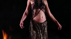 Beautiful belly dancer shot - stock footage