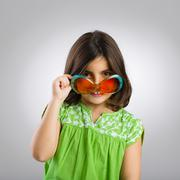 Child funny portrait - stock photo