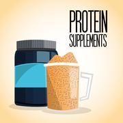 Icon of Protein Supplement design, vector illustration - stock illustration