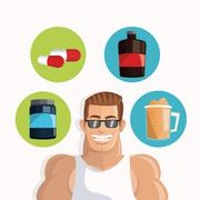 Icon of Protein Supplement design, vector illustration Stock Illustration
