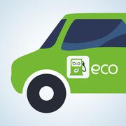 Eco design. Bio icon. Isolated illustration. Green concept , vector Stock Illustration