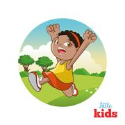 Cartoon of happy little Kids, vector illustration Stock Illustration
