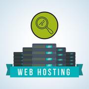 Web Hosting design. Data center  icon. Isolated illustration , vector - stock illustration