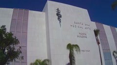 Santa Ana Medical Arts Building With Caduceus Snake Symbol - stock footage