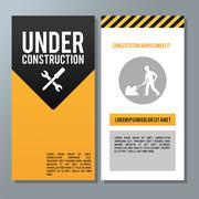 Flat illustration about under construction design. road sign Stock Illustration