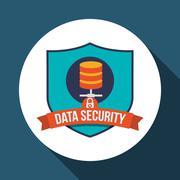 Data Security design. Protect icon. Data center illustration , vector - stock illustration