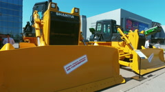 Exhibits and construction equipment naInternational Specialized Exhibition Stock Footage