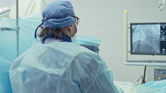 Surgeon Performing Bypass Grafting Stock Footage