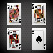 Poker design, cards and game concept ,, casino games - stock illustration
