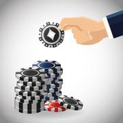 Poker design, game and chips concept ,, casino games - stock illustration