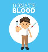 Blood donation design, medical and healthcare concept Stock Illustration