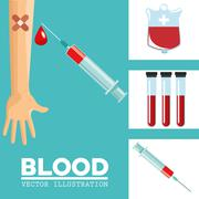 Blood donation design, medical and healthcare concept - stock illustration