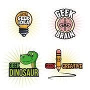 Geek design, identity concept, vector illustration - stock illustration