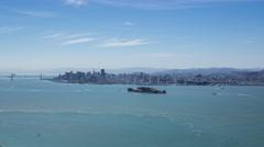 Timelapse - Alcatraz and San Francisco Stock Footage