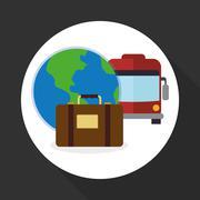 Travel design. Trip icon. Flat illustration , vector - stock illustration