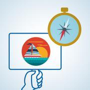 Travel design. Trip icon. Flat illustration Stock Illustration
