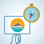 Travel design. Trip icon. Flat illustration - stock illustration