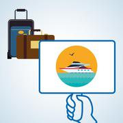 Travel design. Trip icon. Flat illustration Piirros
