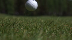 The stick on the Golf ball Stock Footage