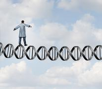 Genetic Research Doctor Stock Illustration