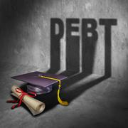 College Debt Stock Illustration