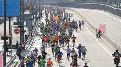 Kiev city half marathon in Kyiv Stock Footage