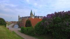 Kronborg castle, Helsingor, Zealand, Danmark, Europe - stock footage