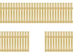Vector illustration wooden fence - stock illustration