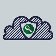 Cloud computing design. Trip icon. Flat illustration , vector Stock Illustration