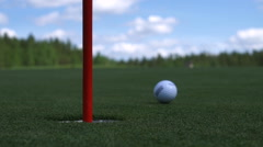 The man hits the Golf ball. Golf course Stock Footage