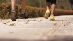 5-Slowmotion People Doing Sports Training Running On Street Stock Footage
