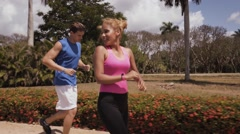 6-Slowmotion People Measuring Sports Activity With Fitband Watch Fitwatch Stock Footage